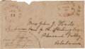 Miscellaneous:Ephemera, Confederate-era Postal Cover from Walterborough, South Carolina....