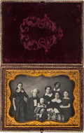 Photography:Daguerreotypes, Thomas Ustick Walter. Half Plate Daguerreotype of Ustick Family, Including Black Servant....