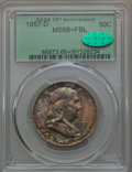 Franklin Half Dollars, 1957-D 50C MS66+ Full Bell Lines PCGS. CAC. PCGS Population: (458/23 and 36/0+). NGC Census: (178/8 and 5/0+). MS66. ...