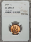 1937 1C MS67+ Red NGC. NGC Census: (1126/0 and 3/0+). PCGS Population (462/1 and 14/0+). Mintage: 309,179,328. ...(PCGS#...