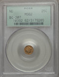 California Fractional Gold , Undated 25C Liberty Round 25 Cents, BG-207, High R.5, MS62 PCGS.PCGS Population (7/19). NGC Census: (5/4). Ex: Superior S...