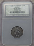 1723 FARTH Hibernia Farthing, DEI GRATIA -- Corroded -- NCS. AU Details. NGC Census: (5/56). PCGS Population (23/178). C...