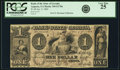 Augusta, GA - Bank of the State of Georgia, Branch Bank at Augusta $1 Jan. 9, 1860 GA-330 G178a. PCGS Very Fine 25
