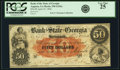 Augusta, GA - Bank of the State of Georgia, Branch Bank at Augusta $50 Apr. 25 1856 GA-330 G242a. PCGS Very Fine 25.&...