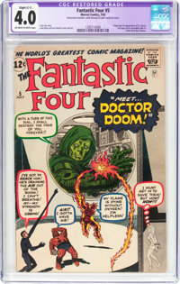 Fantastic Four #5 (Marvel, 1962) CGC Apparent VG 4.0 Slight (C-1) Off-white to white pages