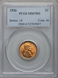 1926 1C MS67 Red PCGS. PCGS Population (105/0). NGC Census: (23/0). Mintage: 157,088,000. From The Al Anthony Collect...