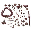 Estate Jewelry:Lots, Bohemian Garnet, Gold, Silver Vermeil, Base Metal Jewelry . ... (Total: 37 Items)