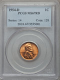 Lincoln Cents: , 1954-D 1C MS67 Red PCGS. PCGS Population (85/0). NGC Census: (422/0). Mintage: 251,552,496. . From The Al Anthony Colle...