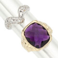Estate Jewelry:Rings, Amethyst, Diamond, White Gold Rings. . ... (Total: 2 Items)