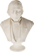 Antiques:Decorative Americana, Henry Wilson: Parian Ware Bust of Noted Civil Rights Advocate....