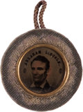 Political:Ferrotypes / Photo Badges (pre-1896), Abraham Lincoln: Unique 1864 Back-to-Back Ferrotype....
