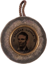 Abraham Lincoln: Unique 1864 Back-to-Back Ferrotype