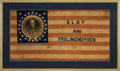Political:Textile Display (pre-1896), Henry Clay: Largest Size Museum Quality Portrait Flag....