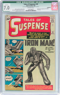 Tales of Suspense #39 Incomplete (Marvel, 1963) CGC Qualified FN/VF 7.0 Off-white pages