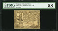Colonial Notes:Virginia, Virginia October 20, 1777 $8 PMG Choice About Unc 58.. ...