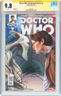 Modern Age (1980-Present):Science Fiction, Doctor Who: The Eleventh Doctor #5 Signature Series (Titan Comics, 2014) CGC NM/MT 9.8 White pages....