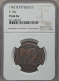 Large Cents, 1795 1C Plain Edge, S-76b, B-4b, R.1, VG8 NGC. NGC Census: (2/20). PCGS Population (2/20). CDN Wsl. Price for problem free...