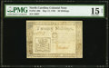 Colonial Notes:North Carolina, North Carolina May 17, 1783 20s PMG Choice Fine 15 Net.. ...