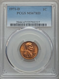 1971-D 1C MS67 Red PCGS. PCGS Population (28/0). NGC Census: (6/0). ...(PCGS# 2944)
