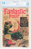 Silver Age (1956-1969):Superhero, Fantastic Four #1 (Marvel, 1961) CBCS GD- 1.8 Cream to off-white pages....