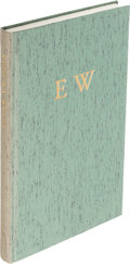 Books:Literature 1900-up, [Eudora Welty]. Writer's Reflections upon First ReadingWelty. Athens: [1999]. First edition, limited and signed....