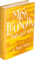 Books:Literature 1900-up, Peter Taylor. Miss Leonora When Last Seen. New York: [1963]. First edition, inscribed, with autograph letter, signed...