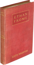 Books:Literature 1900-up, Edith Wharton. Ethan Frome. New York: 1911. First edition,first issue....