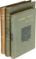 Books:Literature Pre-1900, Mark Twain. Group of Three Webster Books. New York: [1892-1893].First editions.... (Total: 3 Items)