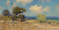 Julian Onderdonk (American, 1882-1922) A Sunny Morning - S.W. Texas, 1910 Oil on panel 4-7/8 x 8-
