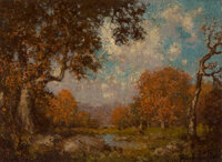 Julian Onderdonk (American, 1882-1922) East Coast Autumn Oil on canvas 6-1/8 x 8-1/4 inches (15.6