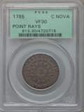 Colonials, 1785 C NOVA Nova Constellatio Copper, Pointed Rays, Large Date VF30 PCGS. PCGS Population (29/211). NGC Census: (17/53). ...