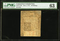 Colonial Notes:Connecticut, Connecticut June 1, 1775 20s PMG Choice Uncirculated 63.. ...