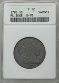 Large Cents, 1795 1C Plain Edge, S-78, B-8, R.1, Fine 12 ANACS. NGC Census: (4/16). PCGS Population (0/8). CDN Wsl. Price for problem f...