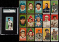 Baseball Cards:Lots, 1909-11 T205 Gold Border and T206 White Border Tobacco Cards (15)....
