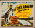 """Movie Posters:Serial, The Lone Ranger Rides Again (Republic, 1939). Title Lobby Card (11"""" X 14"""") Chapter 1 -- """"The Lone Ranger Returns."""" Serial.. ..."""