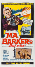 "Movie Posters:Crime, Ma Barker's Killer Brood (Film Service Distributing, 1959). ThreeSheet (41"" X 81""). Crime.. ..."