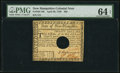 Colonial Notes:New Hampshire, New Hampshire April 29, 1780 $20 PMG Choice Uncirculated 64 EPQ.....
