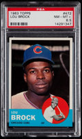 Baseball Cards:Singles (1960-1969), 1963 Topps Lou Brock #472 PSA NM-MT+ 8.5....