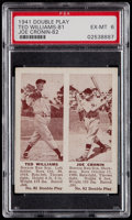 Baseball Cards:Singles (1940-1949), 1941 R330 Double Play Ted Williams/Cronin #81/82 PSA EX-MT 6....