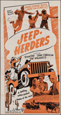"Movie Posters:Action, Jeep-Herders (Astor, 1949). Three Sheet (41"" X 78""). Action.. ..."