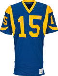 Football Collectibles:Uniforms, Circa 1980 Vince Ferragamo Game Worn, Signed Los Angeles Rams Jersey. ...
