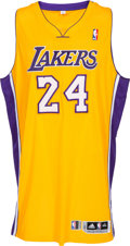 Basketball Collectibles:Uniforms, 2012-13 Kobe Bryant Game Worn Los Angeles Lakers Jersey with PhotoMatch....