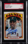 Baseball Cards:Singles (1970-Now), Signed 1972 Topps Willie Mays #49 SGC Authentic. ...