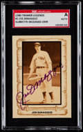 Baseball Cards:Singles (1970-Now), Signed 1980 Cramer Baseball Legends Joe DiMaggio #5 SGC Authentic. ...
