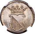 Netherlands East Indies, Netherlands East Indies: Utrecht. United East India Company silver1/2 Duit 1761 VOC MS67 NGC,...