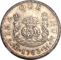 Mexico, Mexico: Charles III 2 Reales 1763/2 Mo-M MS63 NGC,...
