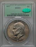 Eisenhower Dollars, 1977 $1 MS66+ PCGS. CAC. PCGS Population (906/18 and 12/0+). NGC Census: (309/8 and 1/0+). Mintage: 12,596,000. ...