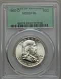 Franklin Half Dollars: , 1960-D 50C MS65 Full Bell Lines PCGS. PCGS Population (523/32). NGC Census: (110/2). CDN Wsl. Price for problem free NGC/P...