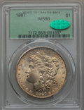 Morgan Dollars: , 1887 $1 MS66 PCGS. CAC. PCGS Population (1615/135). NGC Census: (3762/335). Mintage: 20,290,710. CDN Wsl. Price for problem...