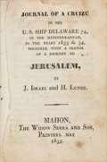 Books:Travels & Voyages, J. Israel and H. Lundt. Journal of a Cruize in the U.S. ShipDelaware 74, in the Mediterranean, in the Years 1833 ...